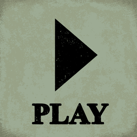 Play sign - conceptual vector illustration 1