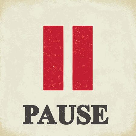 Pause sign - conceptual vector illustration 2