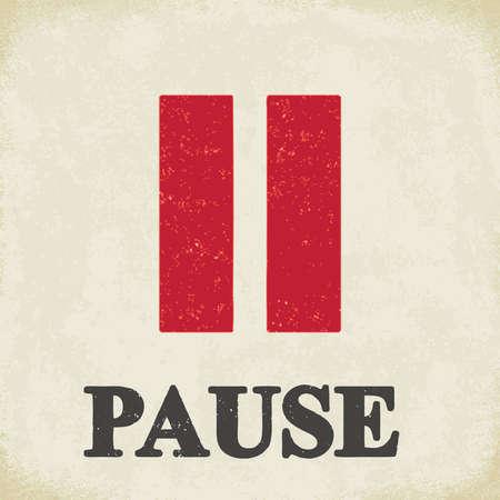 Signo de pausa - ilustración vectorial conceptual 2