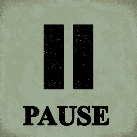 Pause sign - conceptual vector illustration 1 Stock Illustratie