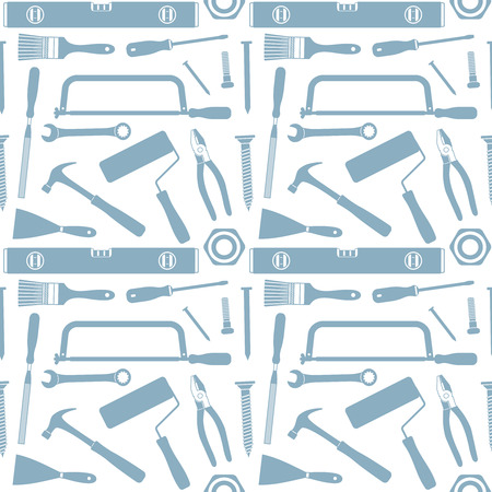 Hand tools vector seamless pattern background 3