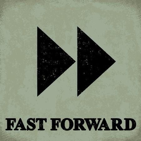 Fast forward sign - conceptual vector illustration 1  Ilustrace