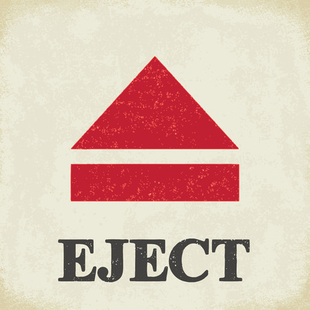 Eject sign - conceptual vector illustration 2