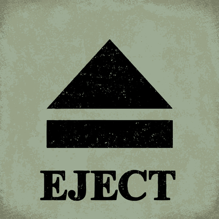 Eject sign - conceptual vector illustration 1