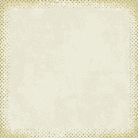 Vintage paper with grunge halftone frame 8