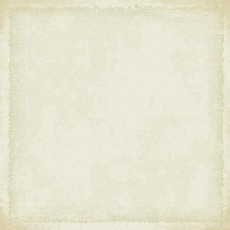 Vintage paper with grunge halftone frame 7
