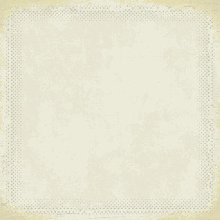 Vintage paper with grunge halftone frame 3