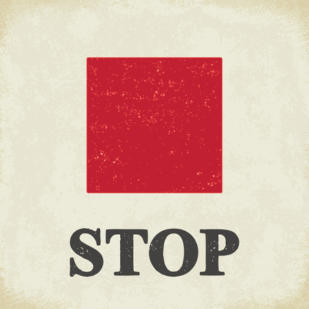 Stop sign - conceptual vector illustration 2