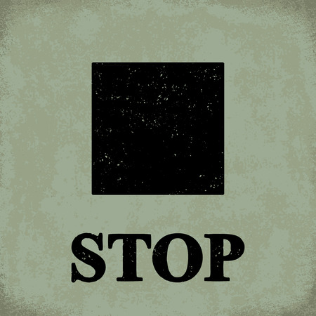 Stop sign - conceptual vector illustration 1 Illustration