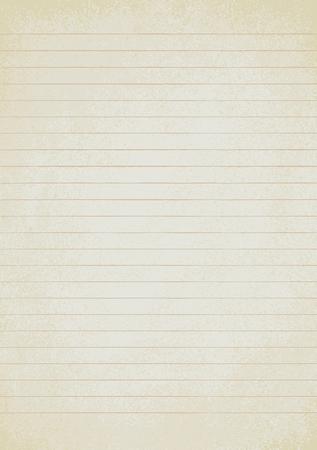 Vintage lined paper sheet vector background 1