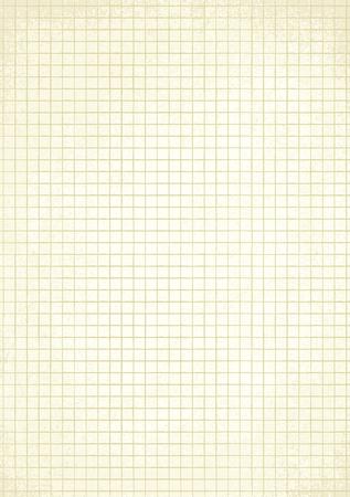 Vintage squared paper sheet vector background 1 Illustration