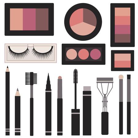 Eyes makeup vector set