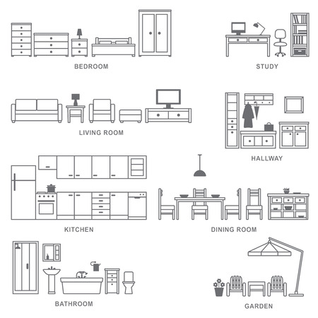 Home related icons 5  Ilustrace