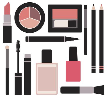 Makeup vector set  Ilustrace