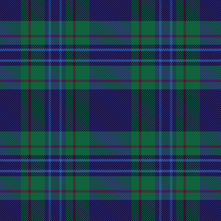 Blue and green plaid tartan seamless pattern background 1