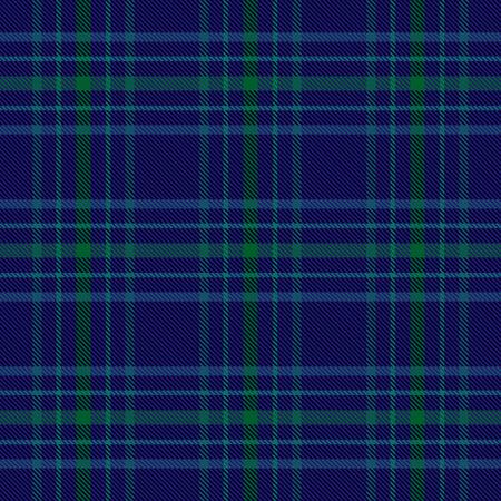 青と緑のチェック柄タータンシームレスパターン背景2