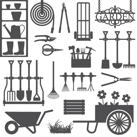 Gardening related icons 8 Stock Vector - 105742614