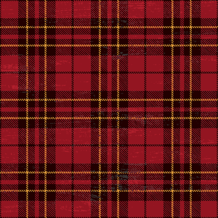 Scratched tartan seamless pattern vector illustration.