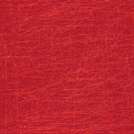 Scratched abstract vector background in red color. Illusztráció