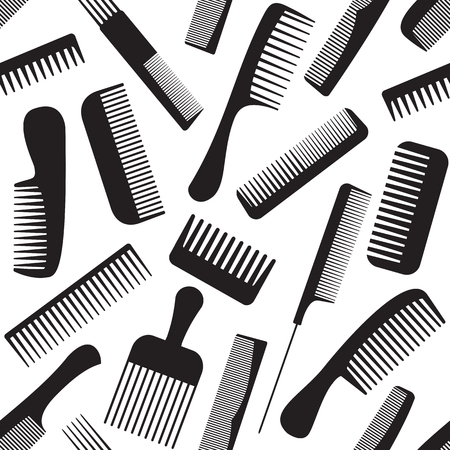 Vector seamless pattern with combs. Illustration