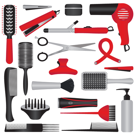 Various vector hairdressing icons .