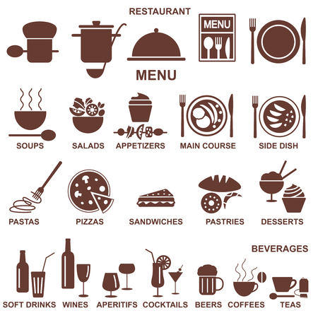 Restaurant related vector icons. Illustration