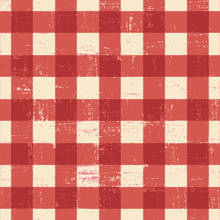 Grunge plaid vector background. Иллюстрация