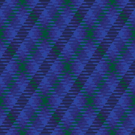 Blue and green diagonal checkered plaid tartan seamless pattern background 1 Illustration