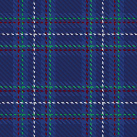 Blue and green plaid tartan seamless pattern background Illustration