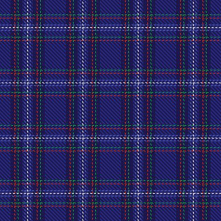 Blue plaid tartan seamless pattern background Illustration