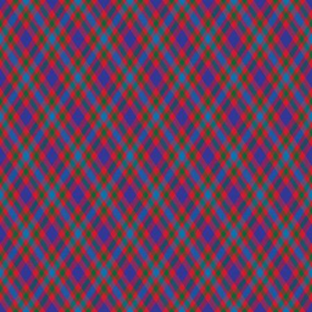 Colorful diagonal checkered plaid tartan seamless pattern background