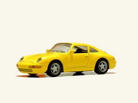 voiture de sport jouet, garé sur un fond transparent