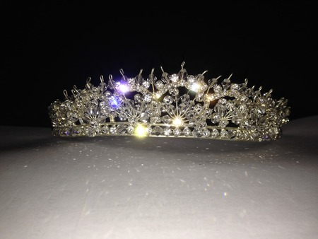 Designed or crown with Swarovski crystal and silver Фото со стока