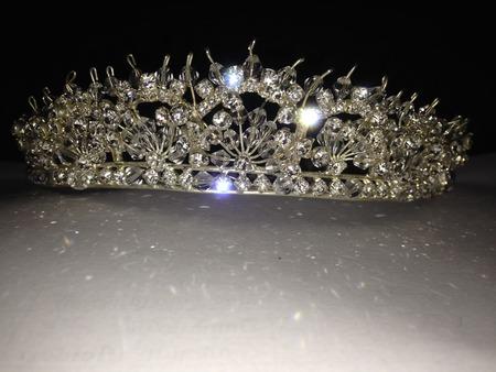 swarovski: Designed or crown with Swarovski crystal and silver Stock Photo