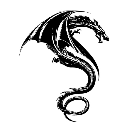 Wyvern tattoo design