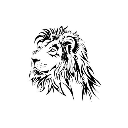 Conception de tatouage de lion Banque d'images - 77529158