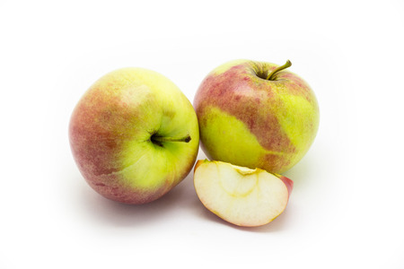 Apple slice on the background of two apples Stock fotó