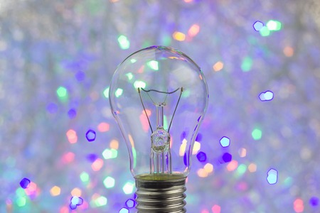 Abstract circular bokeh background with bulb