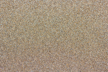 Sandy beach background. Detailed sand texture, top view Stock Photo