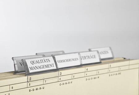 finacial: hanging file Stock Photo