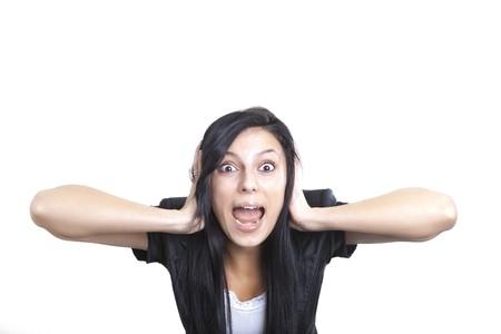 contaminacion acustica: Gritando Woman