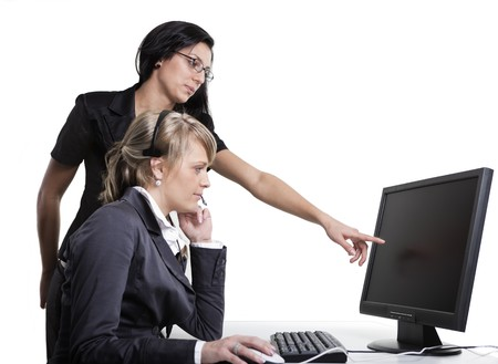 successfull: Teamwork of Two Business Women