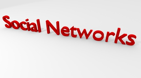 Social Networks in 3D Stock Photo - 8377312