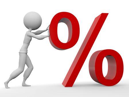percent symbol Stock Photo - 8544173