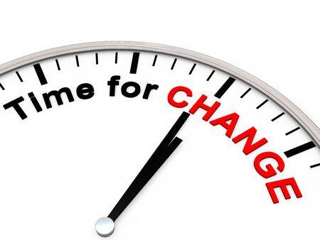 Time for Change on a Clock Фото со стока