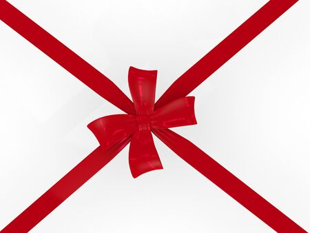 Red Ribbon to put on a gift box Stock Photo - 8811106