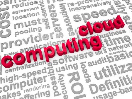 phrases: Las palabras Cloud Computing rodeado de frases pertinentes Foto de archivo