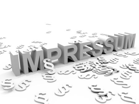The Word Impressum surrounded by Paragraph signs �