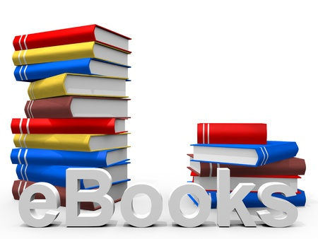 real Books with the word ebook