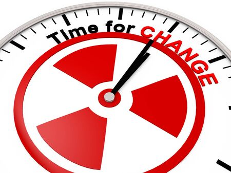 up time: Time for Change on a Clock Stock Photo